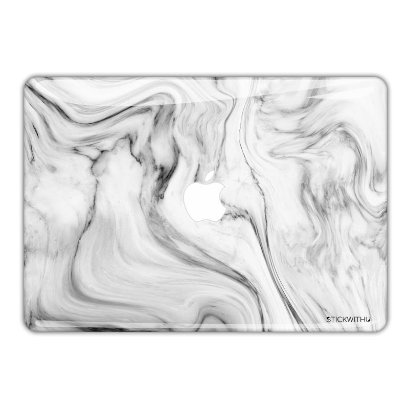 White Marble Swirl