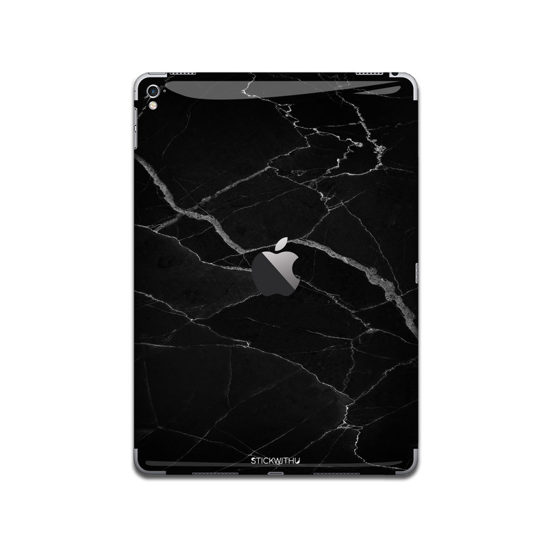 IPA001   Back  Black Marble Ipad Skin Sticker De