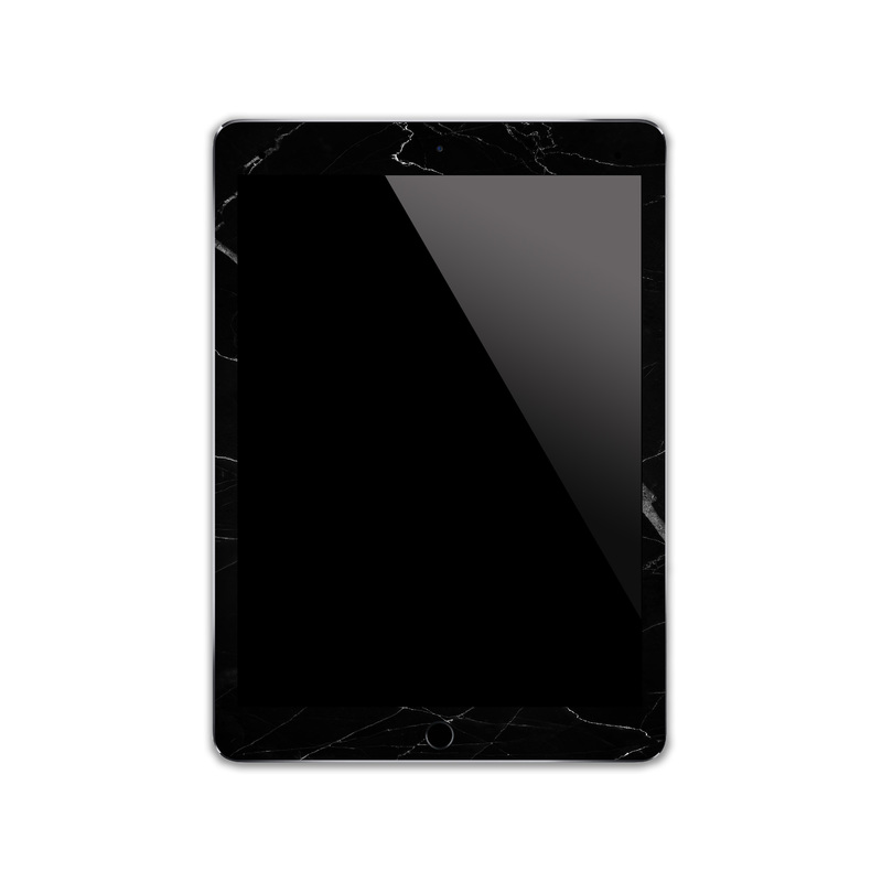 IPA001 Front Black Marble Iphone Skin Sticker Ph