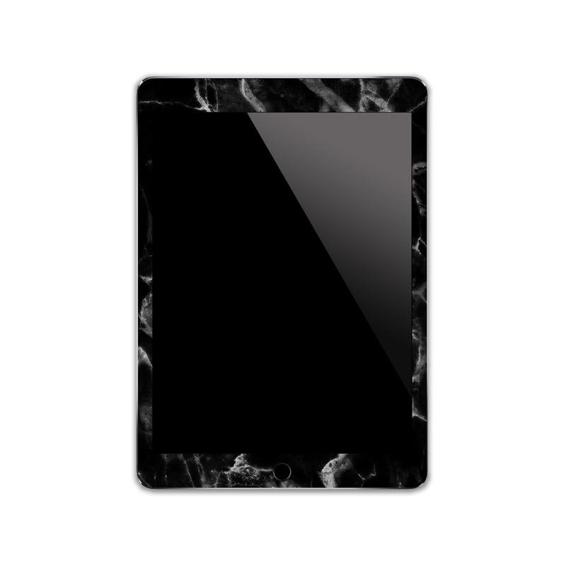 IPA002   Front   Black Marble Iphone Skin Sticke