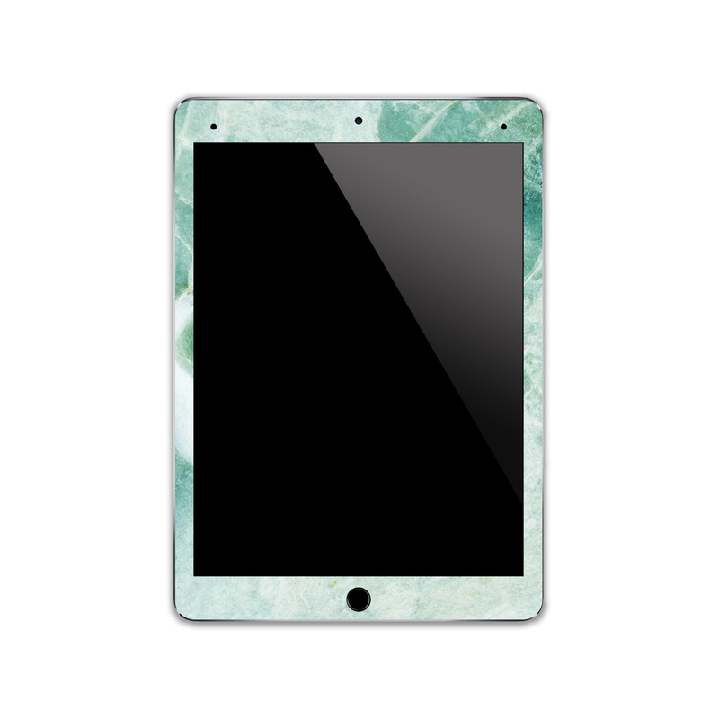 IPA005   Front   Green Marble Iphone Skin Sticke