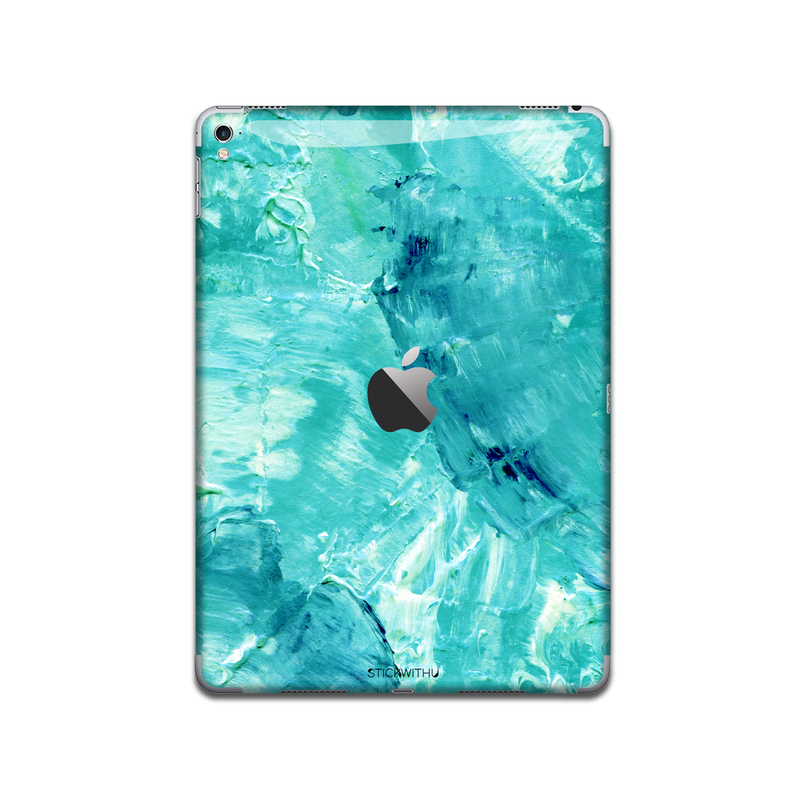 IPA021  Back Watercolour Blue Paint   Ipad Skin