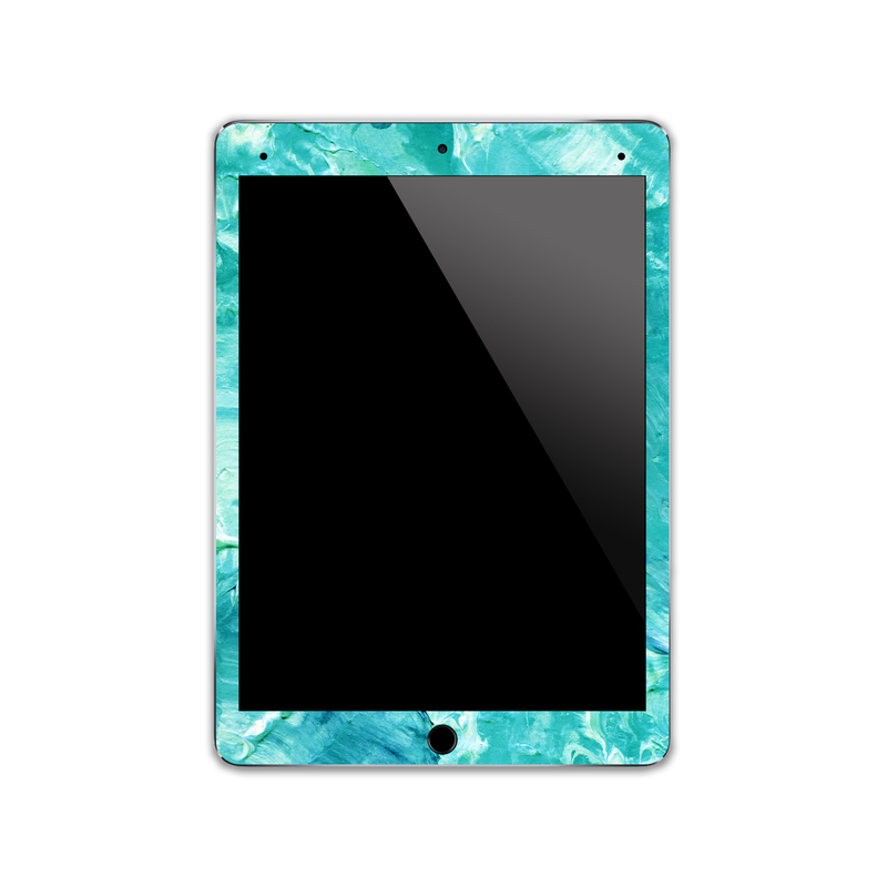 IPA021  Front Watercolour Blue Paint   Ipad Skin