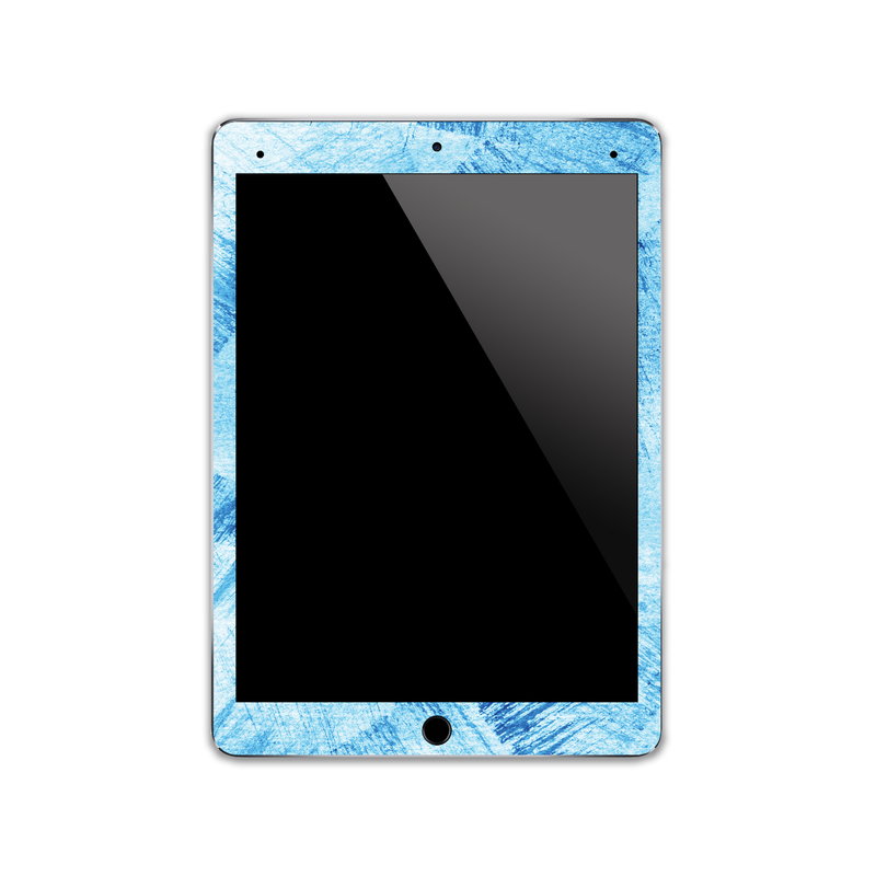 IPA046  Front  Watercolour Blue Paint   Ipad Ski