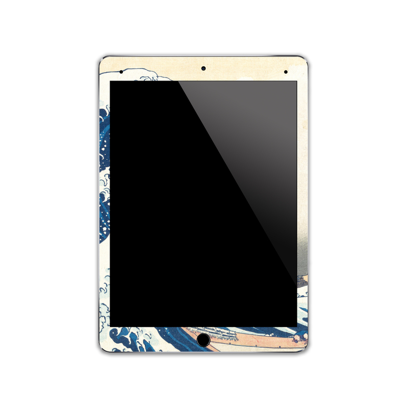 IPA048   Front Great Waves Ipad Skin Sticker Dec