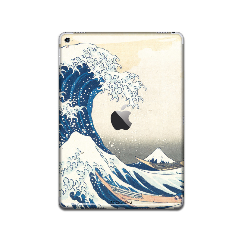 IPA048  Back Great Waves Iphone Skin Sticker Pho