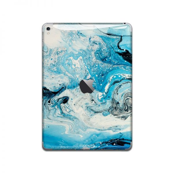 IPA054   Back   Marble Paint Ipad Skin Sticker