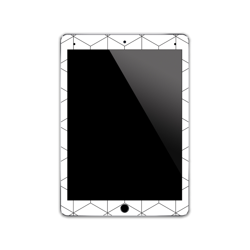 IPA138   Front   Cube Pattern  Ipad Skin Sticker