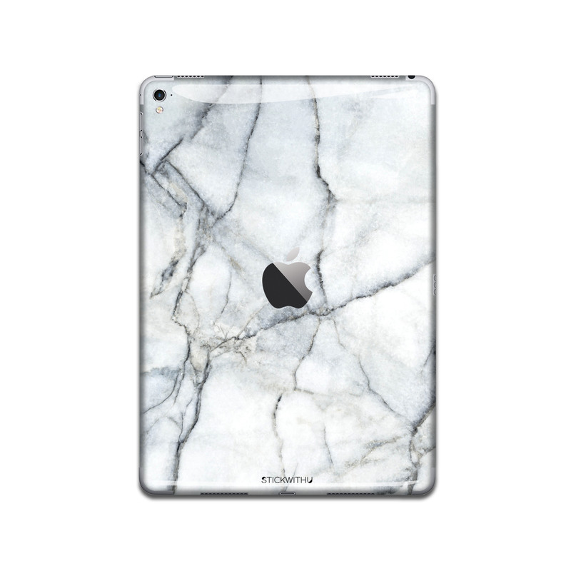 Fractured White Marble