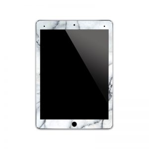 IPA144  Front White Marble Iphone Skin Sticker P
