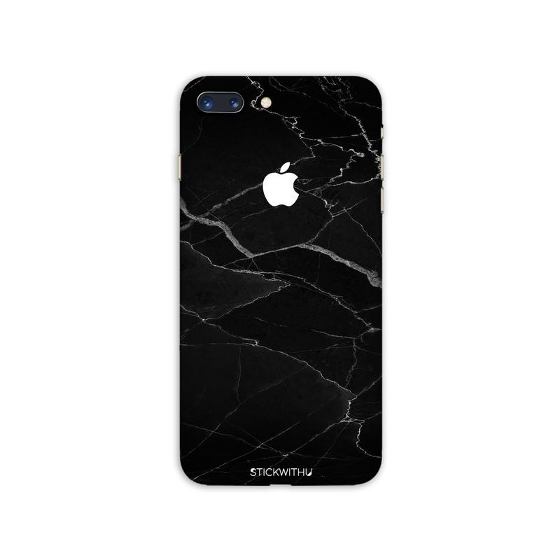 Black Cracked Marble