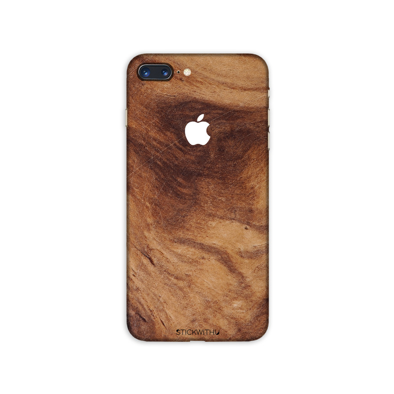PS040  Back Wood Iphone Skin Sticker Phone